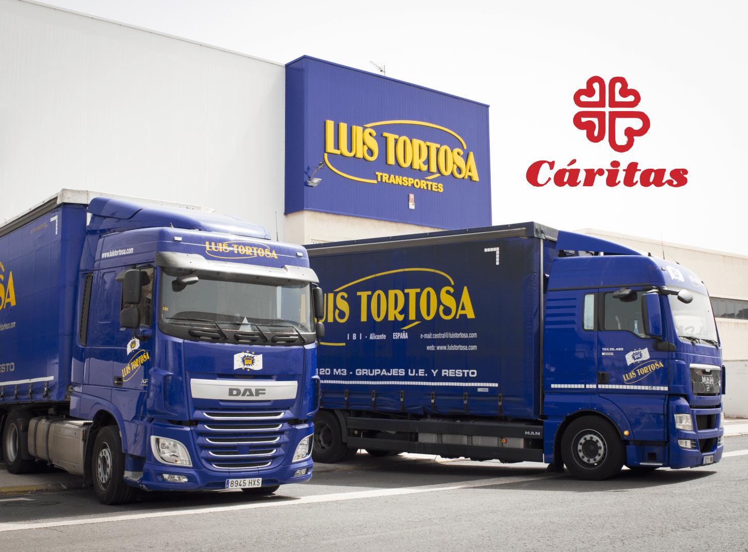 En este momento estás viendo Transportes Luis Tortosa dona carne y pañales a Cáritas de Ibi